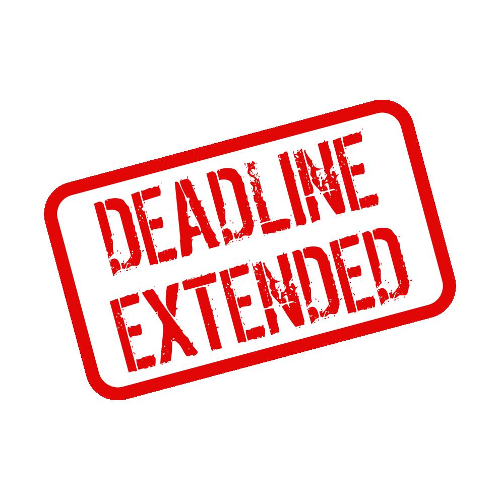 「Deadline extended」の画像検索結果